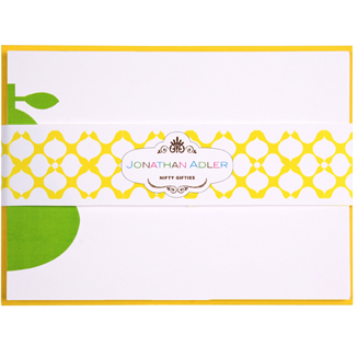 Jonathan Adler Letterpressed Pear Notecards