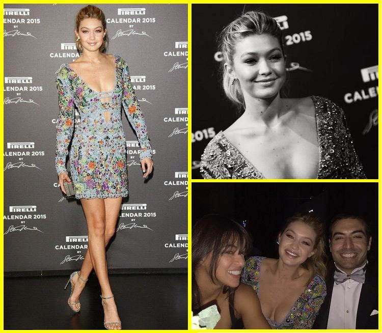 Guess what, guys! the new face of superstar wore an incredible design to the red Carpet gala at Milan, Italy on Tuesday, November 18, 2014. Gigi Hadid did not impress with her loud, short sparkling dress and it's long beauty legs. . . . .Please, call us sightless, but the great textured of fashion doesn't work well on anything that isn't a wall.