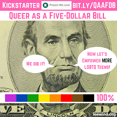 "The ""Queer as a Five-Dollar Bill"" Kickstarter and Cover Reveal is LIVE!"