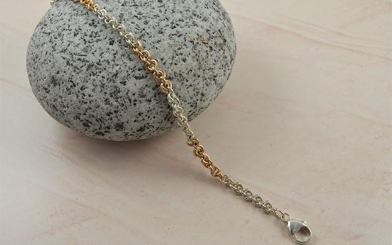 Argentium Sterling Silver and Gold-Filled Knot Bracelet