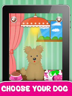 Dog Salon iphone game for kids