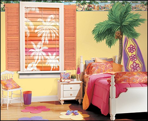 Girls Beach Themed Bedroom
