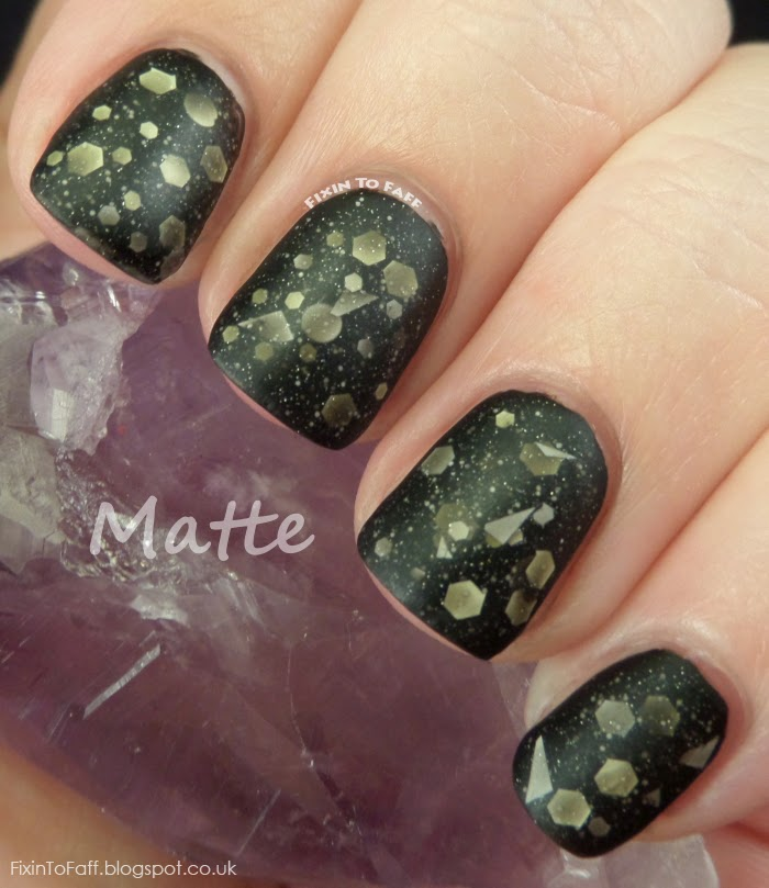 Hey, Swatch It!  Swatches and review of Liquid Sky Lacquer's Howling at the Moon, both glossy and matte.