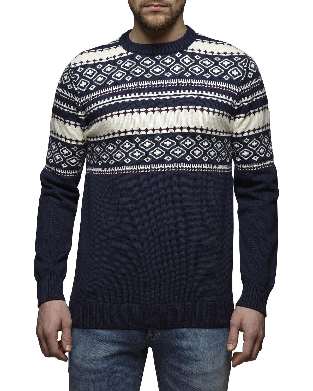 ce que veulent les hommes  jack and jones wally knit pull motifs hiver coton