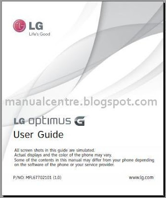 LG Optimus G Manual Cover