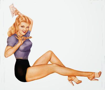 Pretty Varga Giirl Pinup1930s