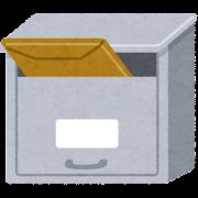 封筒が入った郵便受け・メールボックスのイラスト