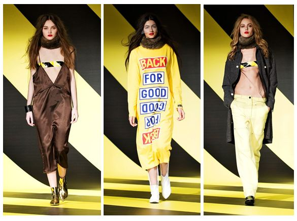 Grunge trend at Ann-Sofie Back - industrial tape and slogan fashion