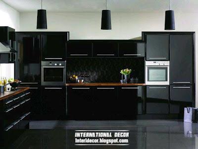 Modern black kitchen designs, ideas, furniture 2015