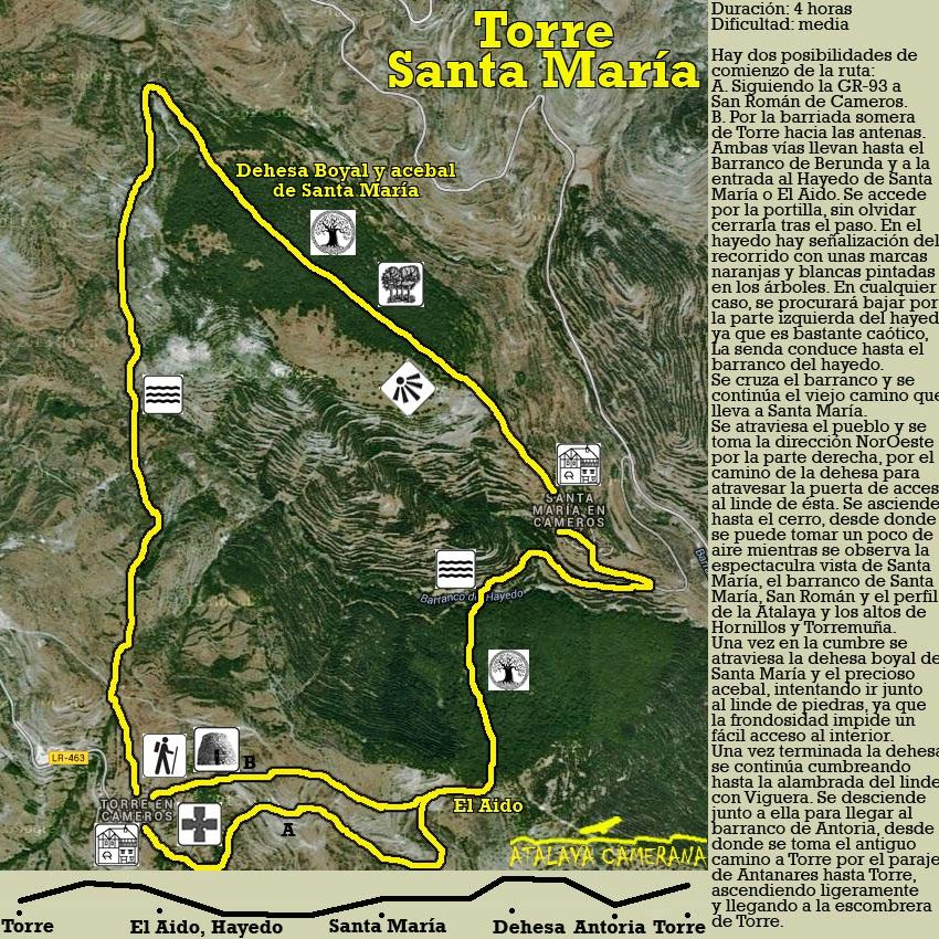 Ruta de senderismo: Torre en Cameros - Santa María en Cameros - Torre en Cameros