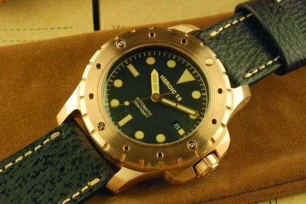 Oceanictime heroic18 bronze diver - Bronze dive watch ...