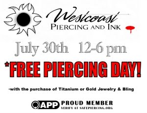 Free Piercing Day!