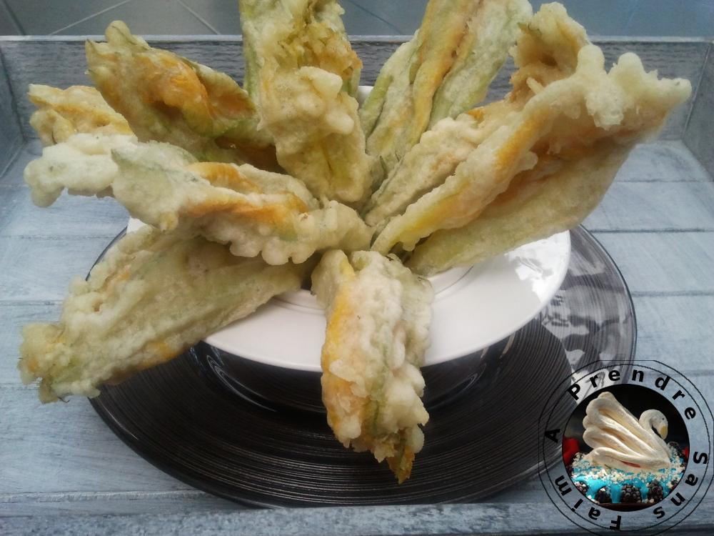 Beignets de fleurs de courgettes a prendre sans faim - Beignets de fleurs de courgettes ...