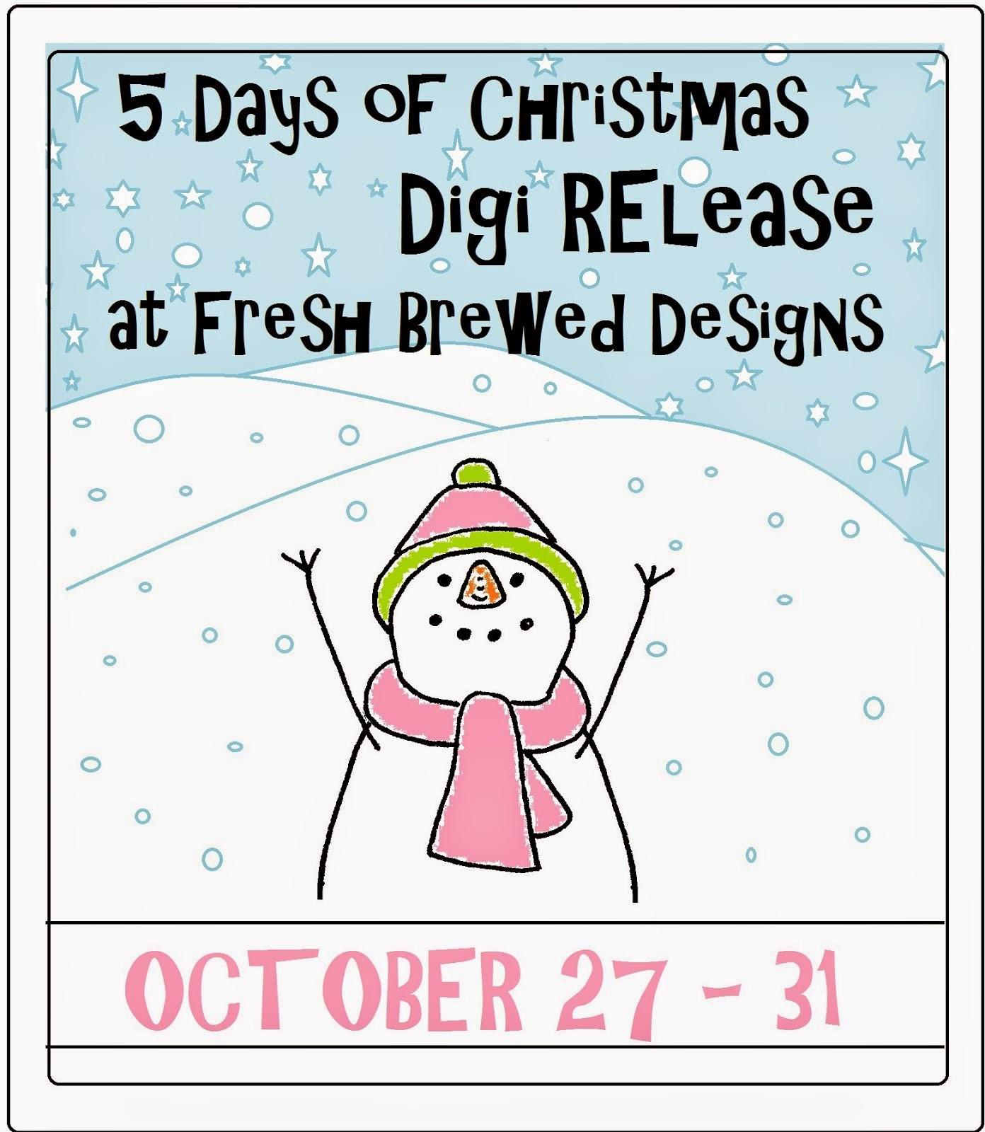 Fresh Brewed Designs Christmas digi release