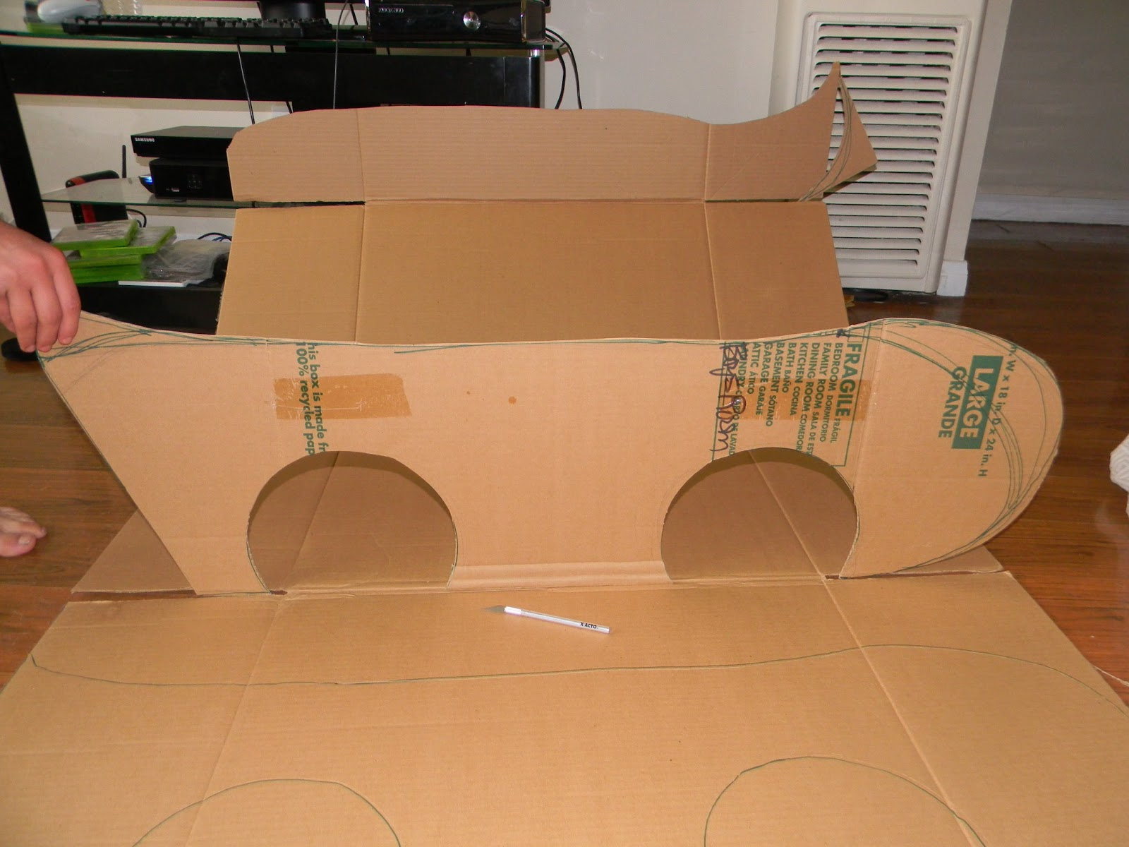 Craft diy cardboard race car tutorial