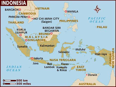 Indonesia Map Regional Political