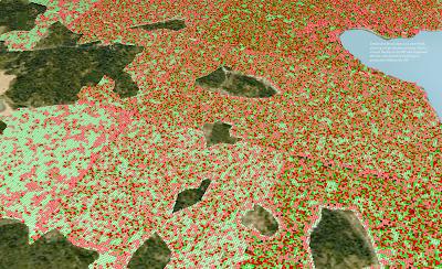 Kungsängen - 9 km2 Settlement Simulation