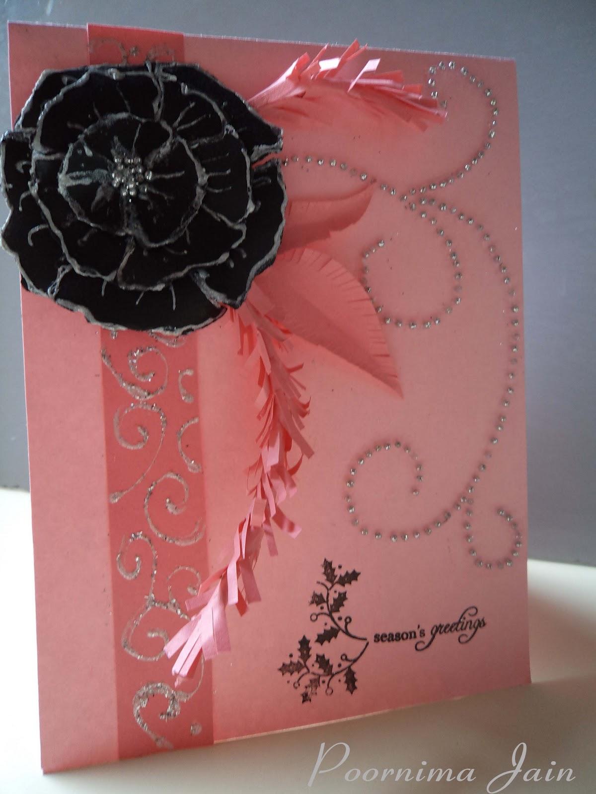 Paper Craft Horizon New Year Card
