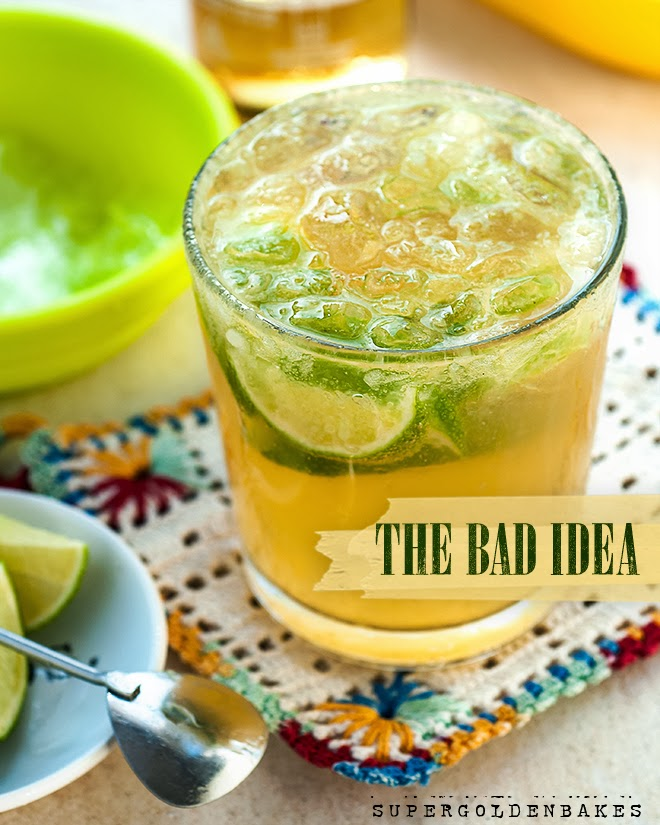 Summery and refreshing 'Bad Idea' cocktail: tequila, triple sec and beer