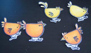 recortar pollitos dibujos copic