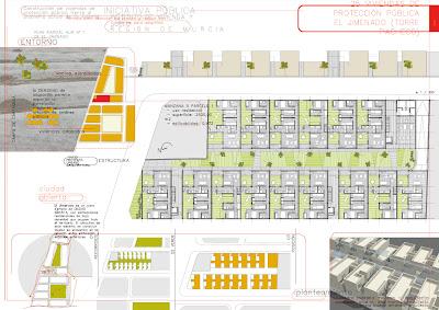 Panel 01 Concurso 25 viviendas de protección pública en El Jimenado