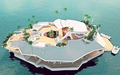 IMEJ yang dihasilkan komputer menunjukkan pulau buatan manusia yang akan dibina firma Orsos Island.