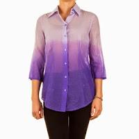 Camasa moderna, in degrade lila-violet, usor transparenta ( )