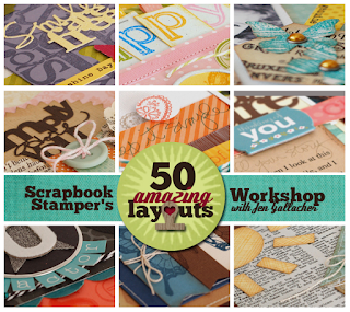 """Scrapbook Stampers Workshop"" a #scrapbooking class taught by Jen Gallacher on how to use stamps on a layout. http://jen-gallacher.mybigcommerce.com/scrapbook-stamper-self-paced-scrapbooking-working/"