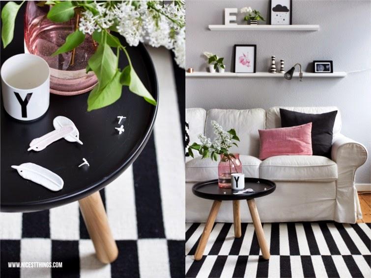Ideas para un #salón nórdico con toque en rosa