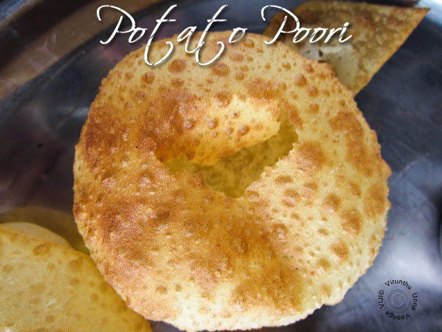 Crispy and Puffy Yummy Potato Pooris.... Enjoy!!!