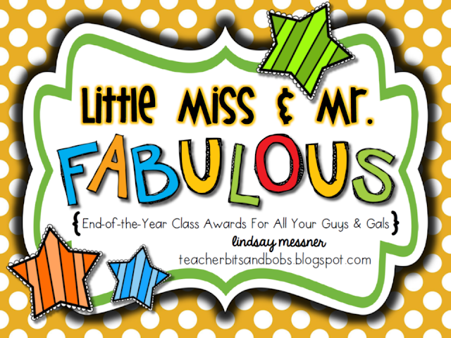 https://www.teacherspayteachers.com/Product/End-of-the-Year-Awards-Little-Miss-Mr-Fabulous-Awards-716908