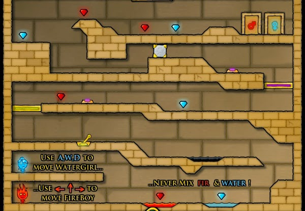 Fireboy & Watergirl 2 in Light Temple FLASH GAME