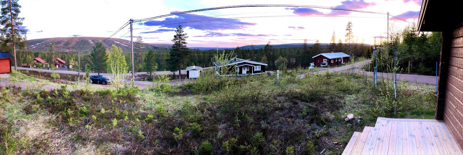 Utsikt på våren - mot Norge