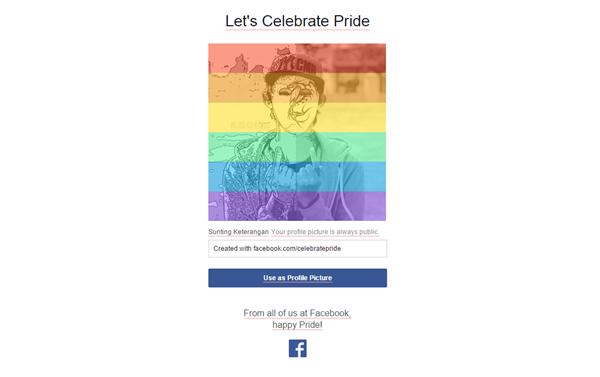 Celebrater Pride Facebook 2015