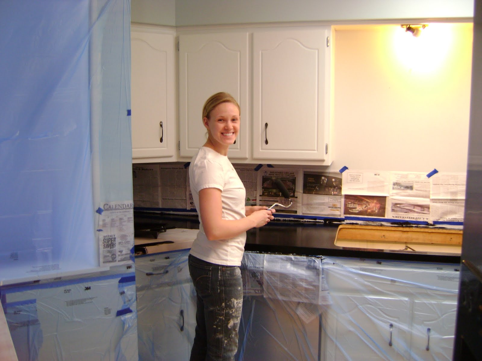 our hobby house painted faux granite countertops. Black Bedroom Furniture Sets. Home Design Ideas