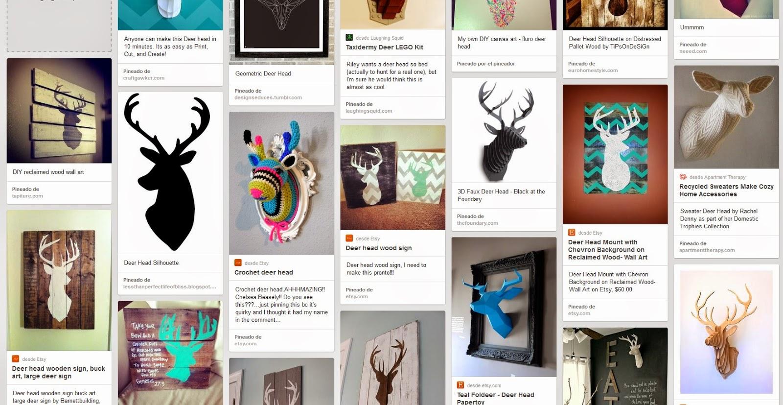 Decoración: cabeza de ciervo para la pared del salón | Tutoriales ...