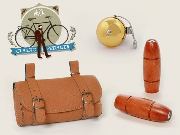 Pack de 3 complementos y accesorios para bicicleta urbana o clásica