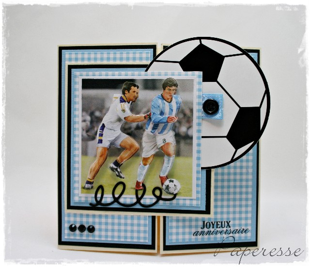 paperesse soccer happy birthday card in d, Birthday card