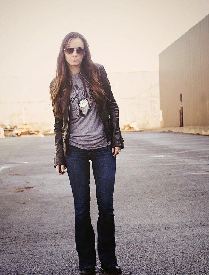 Johnny-Cash-tee-black-leather-biker-jacket-jeans