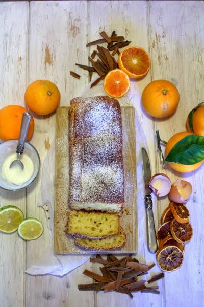 un cake che profuma di formaggio, agrumi e cannella. e....non è finita! confettura di arance con noci e pepe rosa