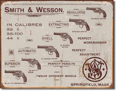 S&W Revolvers Tin Sign