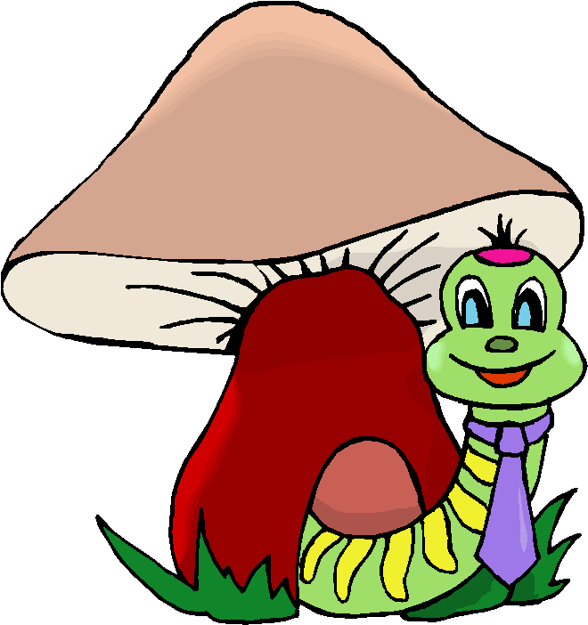 Worm in A Mushroom Free Clipart