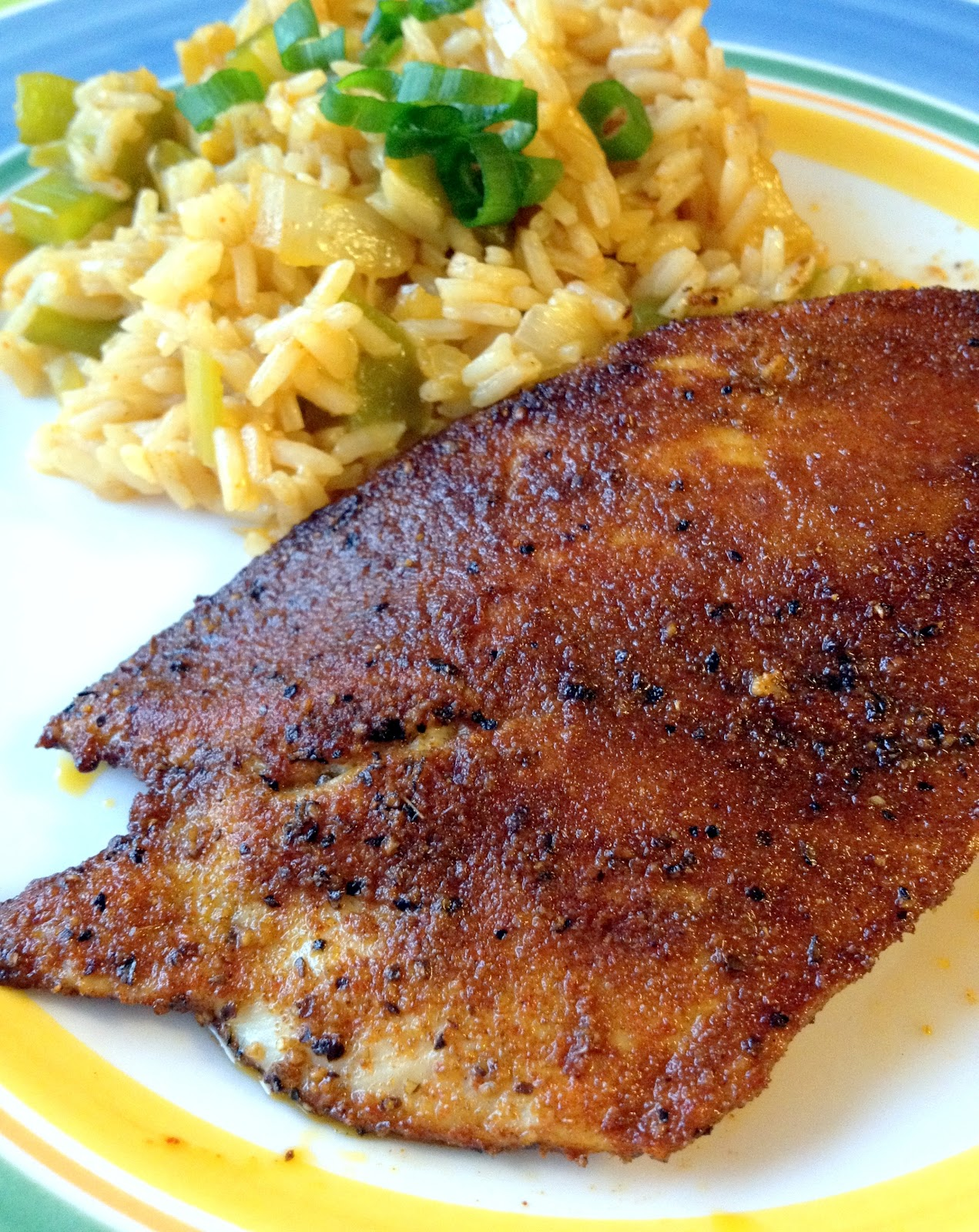 Blackened Chicken with Dirty Rice | The Zucchini Diaries