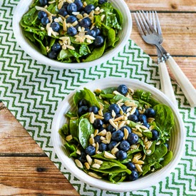 Power Greens Salad with Blueberries and Almonds (Paleo, Gluten-Free ...