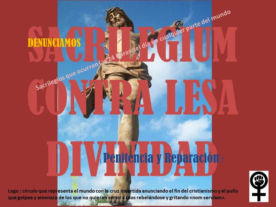 SACRILEGIUM CONTRA LESA DIVINIDAD