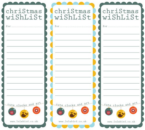 Printable Christmas Wishlist + Gift Tags  Printable Christmas Wish List Template