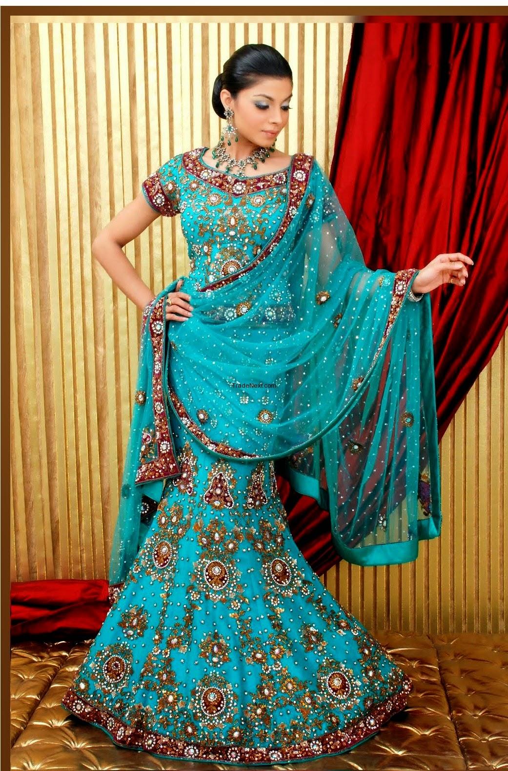 Latest Wedding Dresses 2014   Apna Food Tv