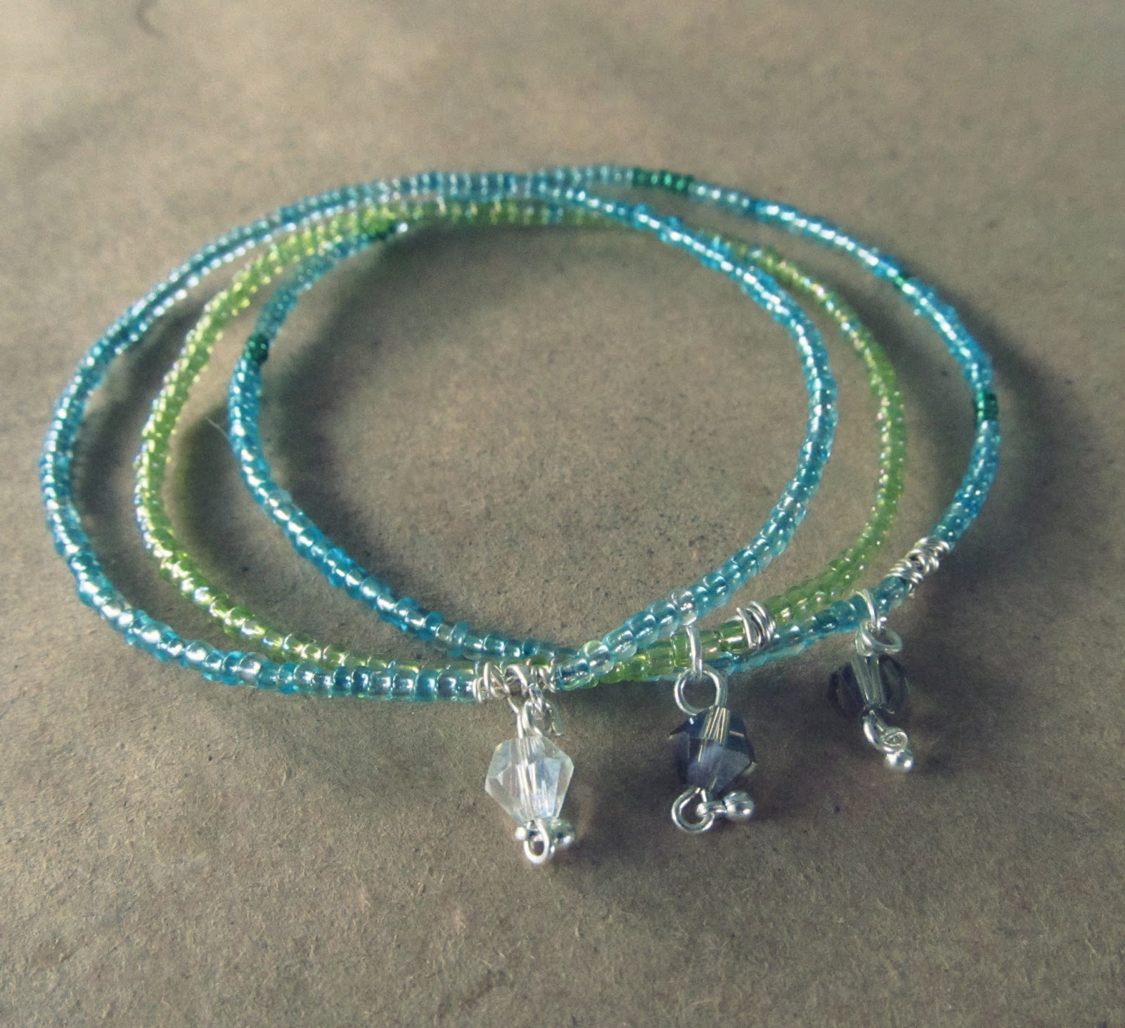 wobisobi seed bead bangle bracelet diy