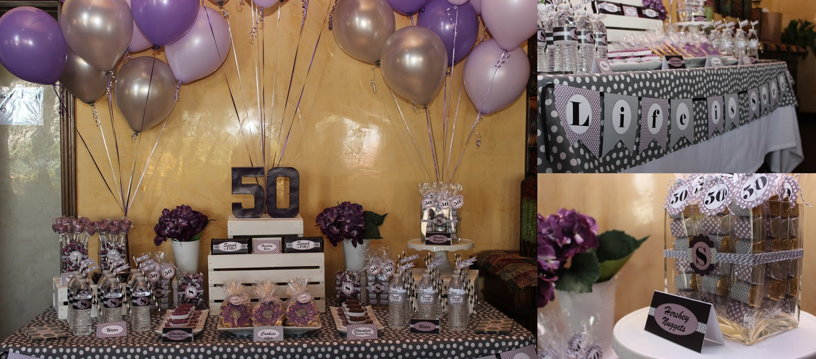 The sugar bee bungalow party bee sarah 39 s 50th birthday for 50th birthday decoration ideas