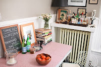 Radiant Cocktail Station Over Radiator